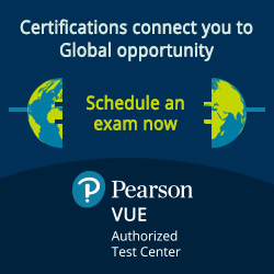 Pearson VUE Authorized Test Center, Certifications